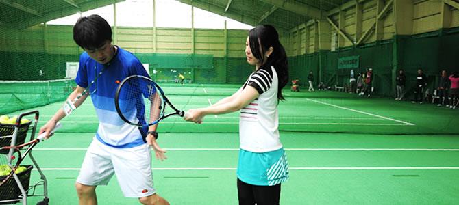 テニスの初心者レッスン